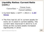 liquidity ratios current ratio cont1