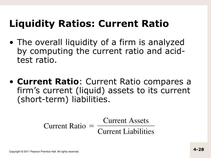 Liquidity Ratios: Current Ratio