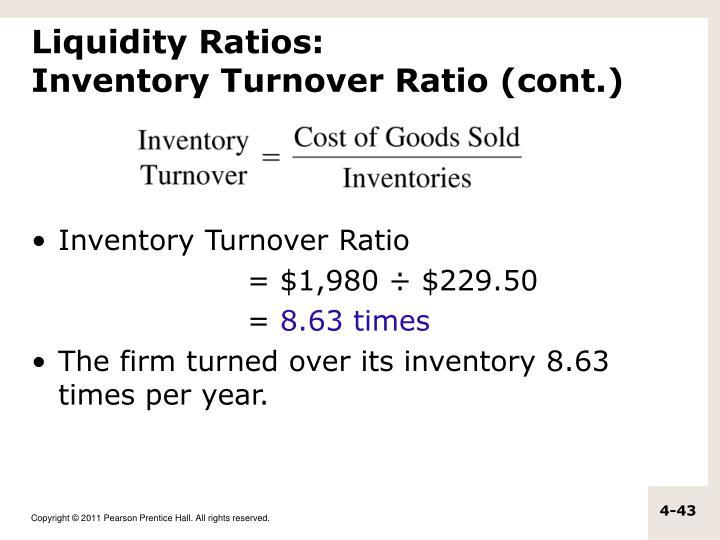 Liquidity Ratios: