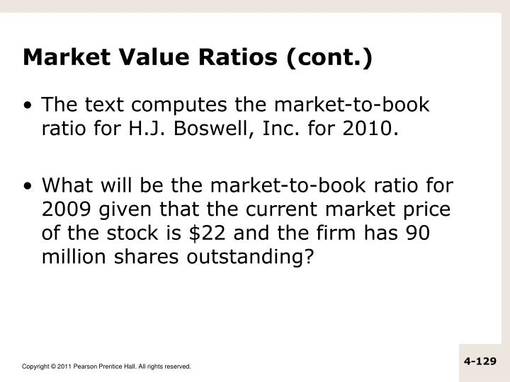 Market Value Ratios (cont.)