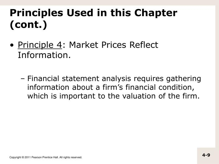 Principles Used in this Chapter (cont.)