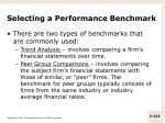selecting a performance benchmark