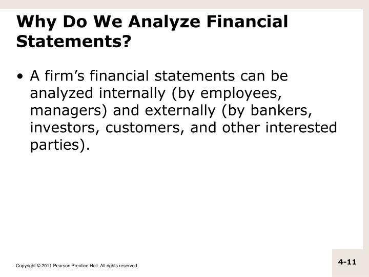 Why Do We Analyze Financial Statements?