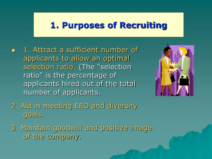 1. Purposes of Recruiting