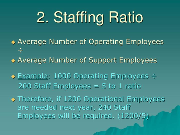 2. Staffing Ratio