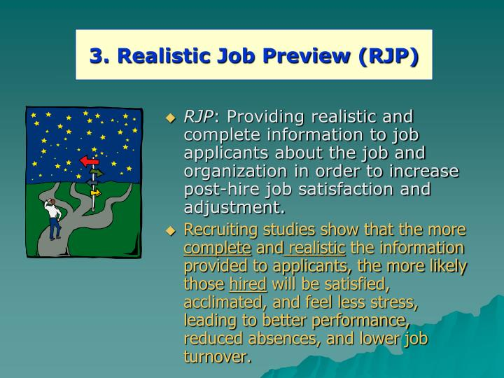 3. Realistic Job Preview (RJP)