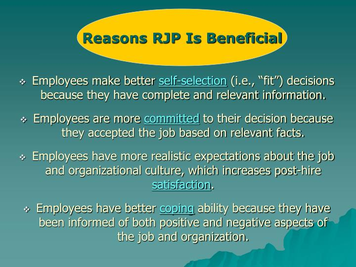 Reasons RJP Is Beneficial