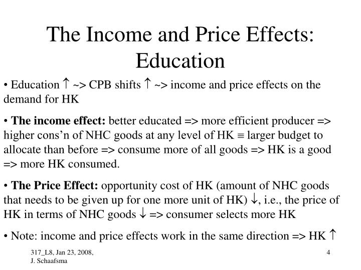 The Income and Price Effects: Education