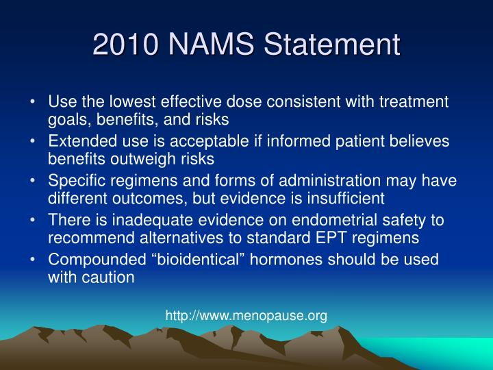 2010 NAMS Statement