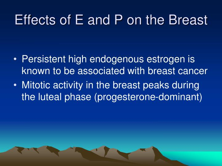 Effects of E and P on the Breast