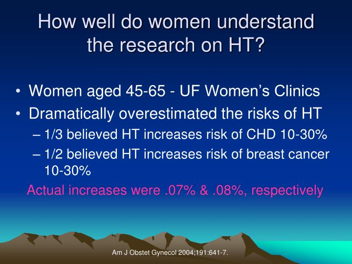 How well do women understand        the research on HT?