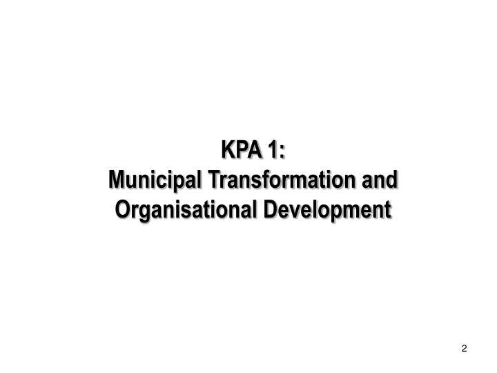 KPA 1: