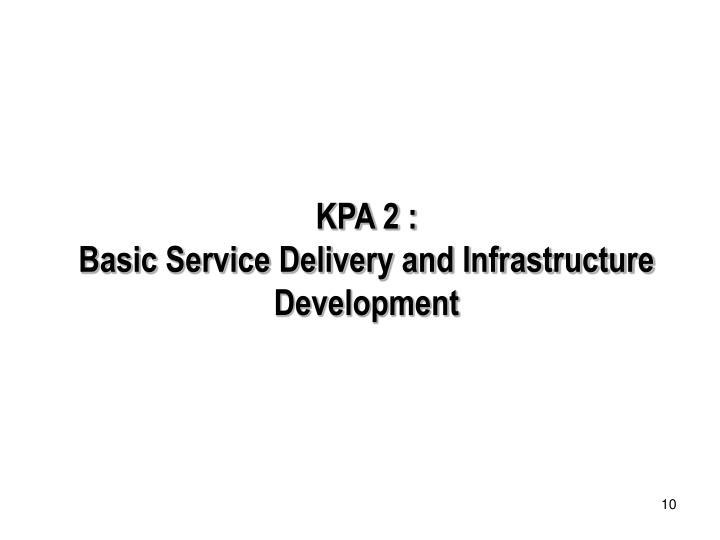KPA 2 :