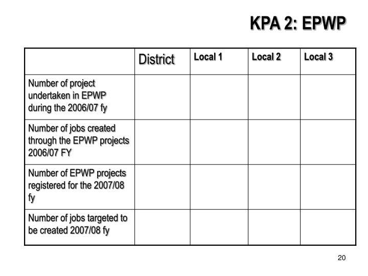 KPA 2: EPWP