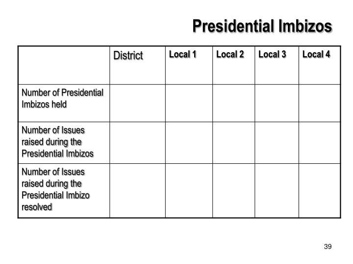 Presidential Imbizos