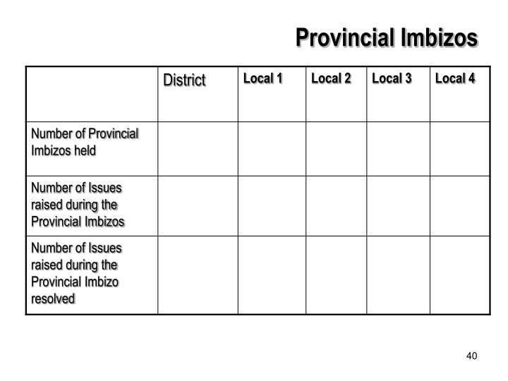 Provincial Imbizos