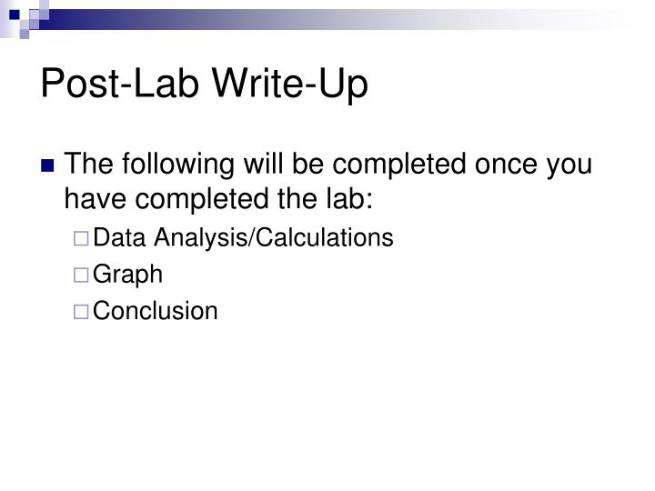 Post-Lab Write-Up