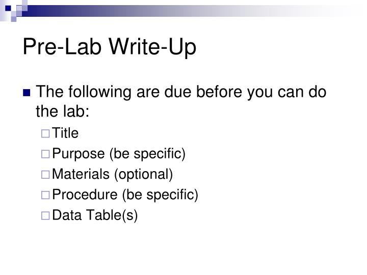 Pre-Lab Write-Up