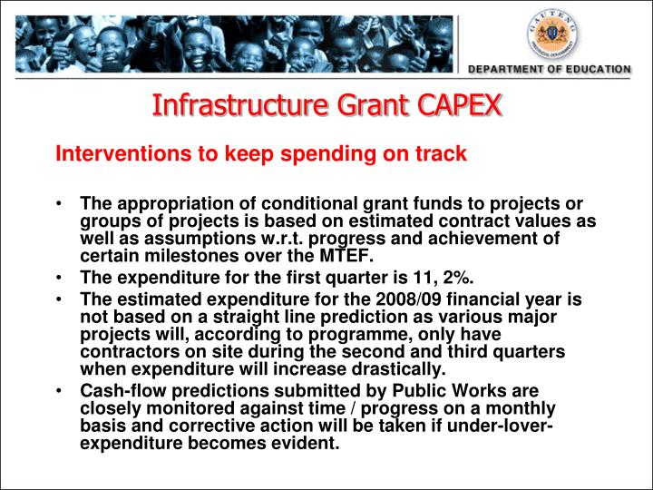 Infrastructure Grant CAPEX