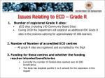 issues relating to ecd grade r