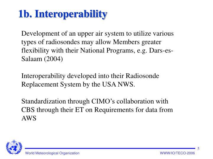 1b. Interoperability