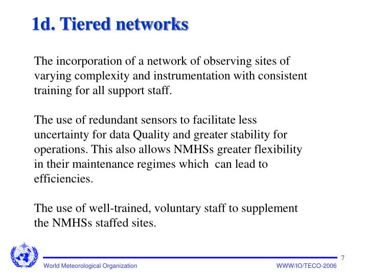 1d. Tiered networks