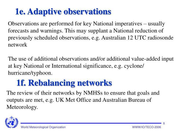 1e. Adaptive observations