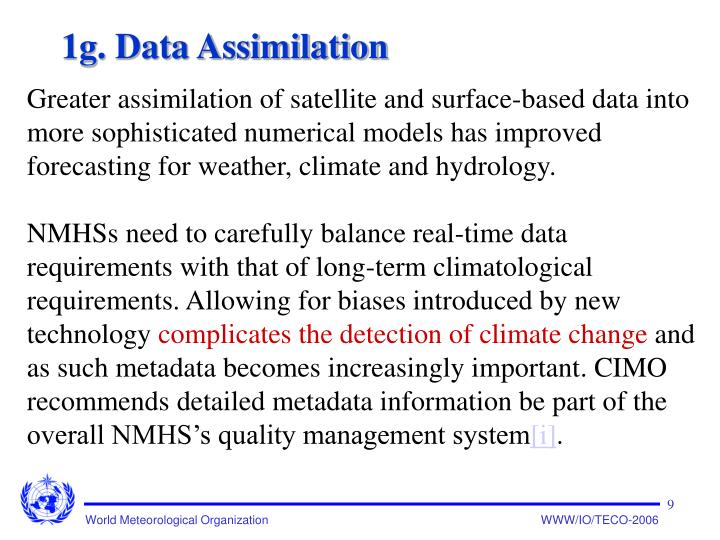 1g. Data Assimilation