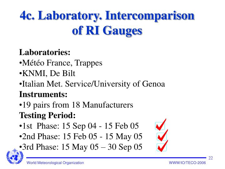 4c. Laboratory. Intercomparison of RI Gauges