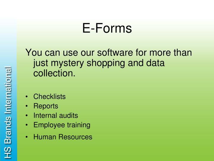 E-Forms