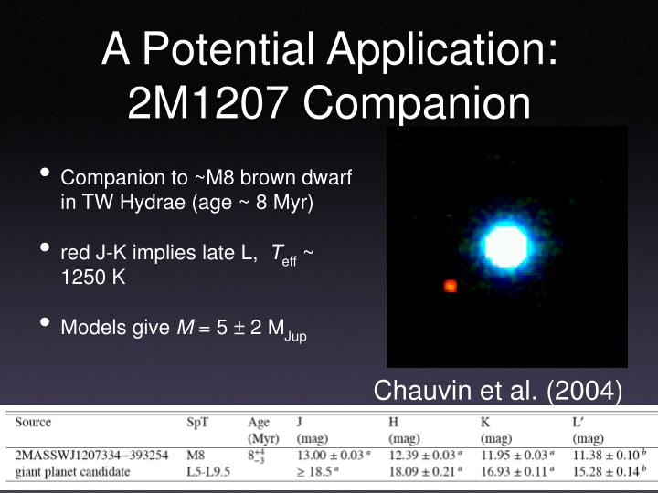 A Potential Application: 2M1207 Companion