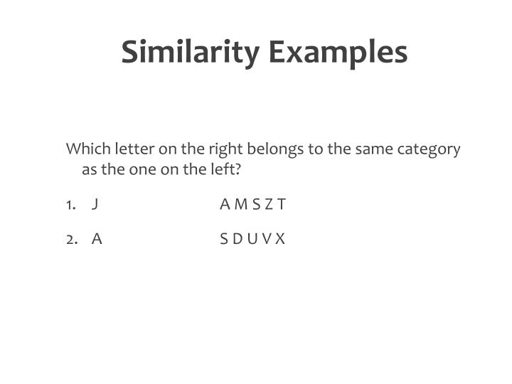 Similarity Examples