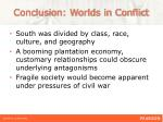 conclusion worlds in conflict1