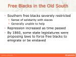 free blacks in the old south
