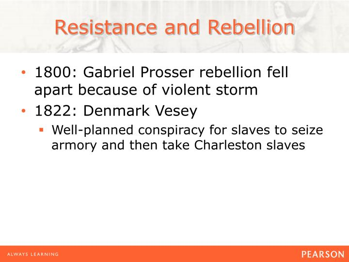 Resistance and Rebellion