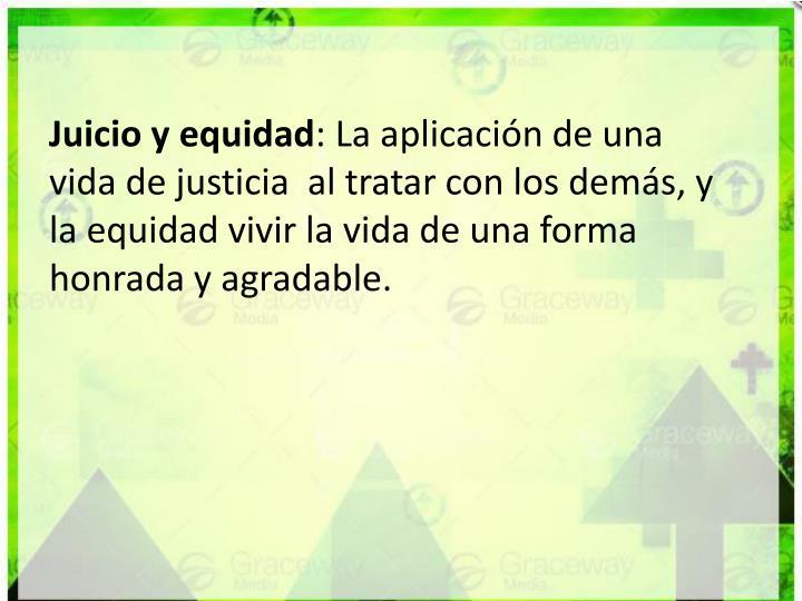 Juicio y equidad