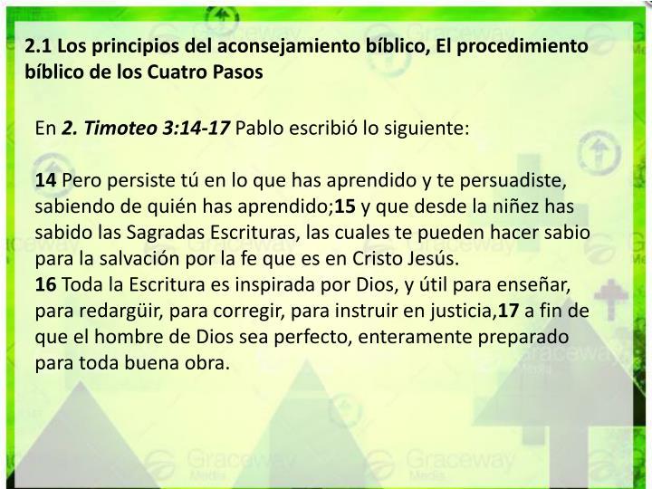 2.1 Los principios del