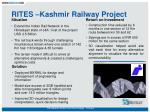 rites kashmir railway project