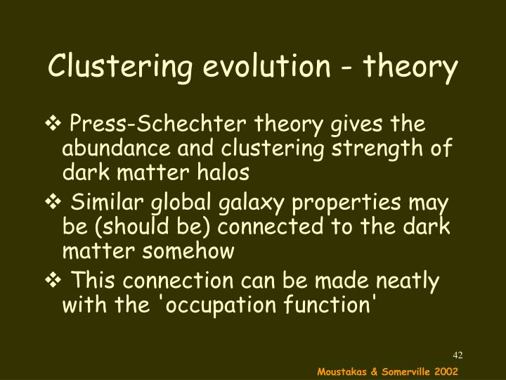 Clustering evolution - theory