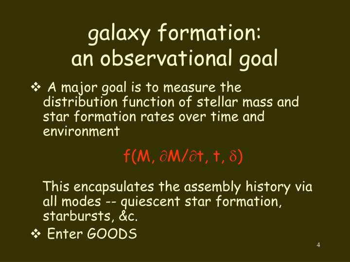 galaxy formation: