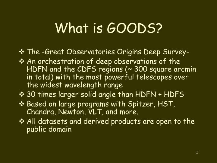 What is GOODS?