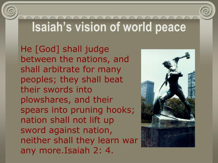 Isaiah's vision of world peace
