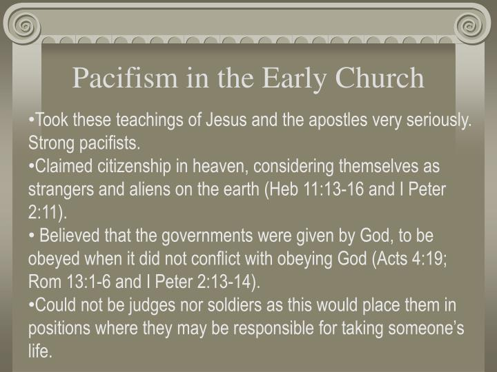 Pacifism in the Early Church