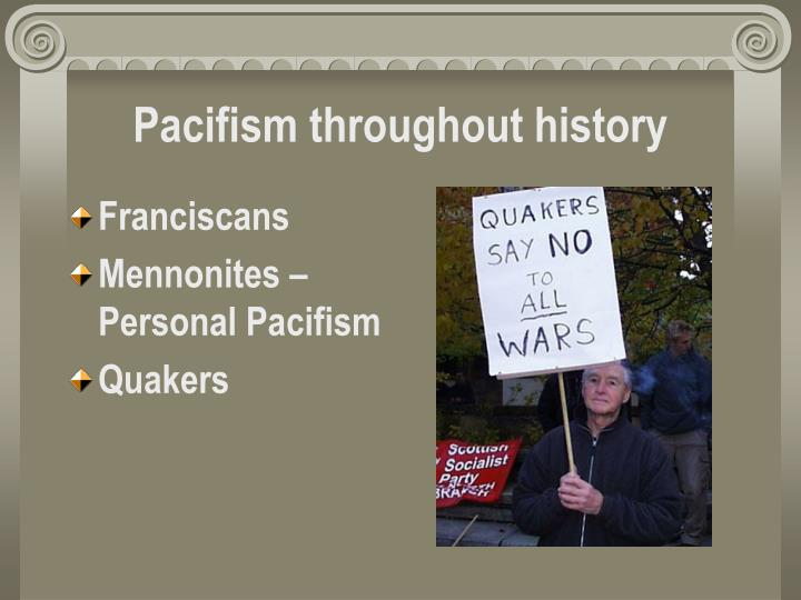 Pacifism throughout history