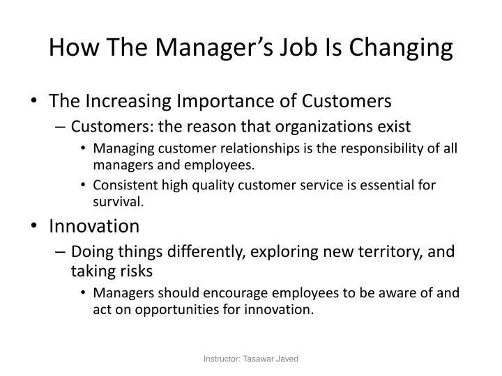 How The Manager's Job Is Changing