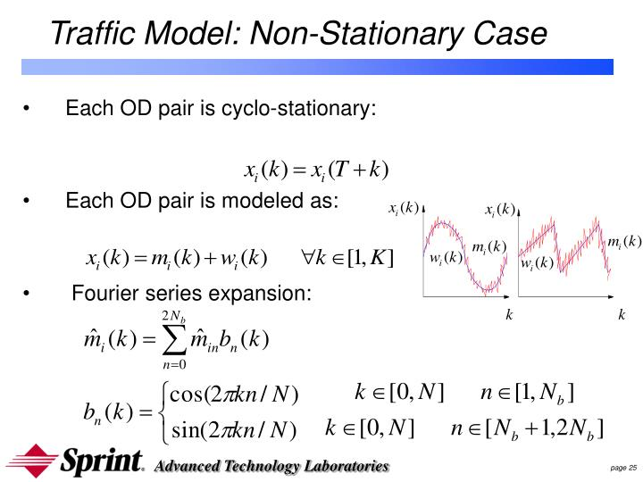 Traffic Model: Non-Stationary Case