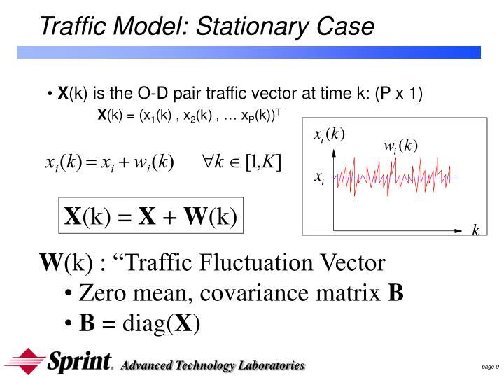 Traffic Model: Stationary Case