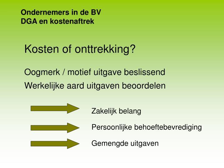 Ondernemers in de BV