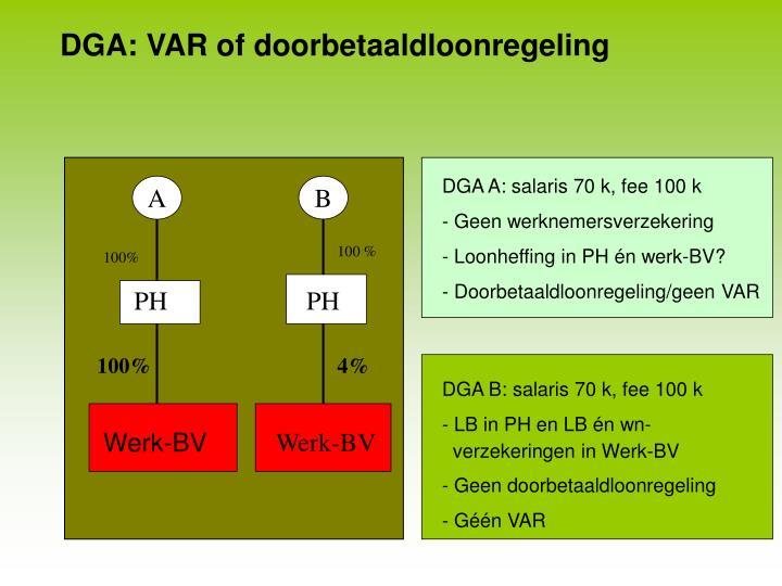 DGA: VAR of doorbetaaldloonregeling