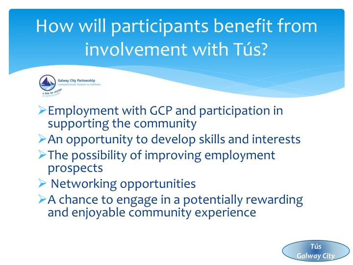 How will participants benefit from